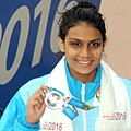 Avantika Chavan (INDIA) won Silver Medal in Women's 50m Fly Swimming, at the 12th South Asian Games-2016, in Guwahati (cropped).jpg