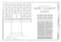 Avery Coonley House, 300 Scottswood Road, 281 Bloomingbank Road, Riverside, Cook County, IL HABS ILL,16-RIVSI,2- (sheet 1 of 17).png
