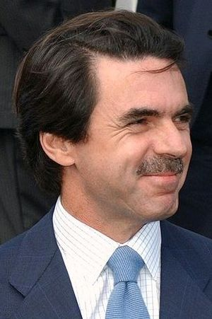 Prime Minister of Spain - Image: Aznar at the Azores, March 17, 2003 2