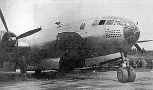 "468th Bombardment Group - Photo of ""Kickapoo II"" Martin-Omaha B-29-1-MO Superfortress 42-6232 of the 468th Bomb Wing, Kalaikunda AB, India. This aircraft was condemned after being damaged in combat, 20 June 1944."