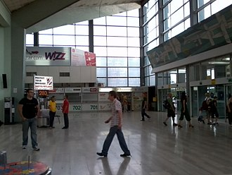 Belgrade Nikola Tesla Airport - Terminal 1 check-in area (prior to overhaul)
