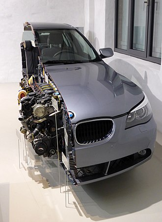 BMW 5 Series (E60) - section view- front