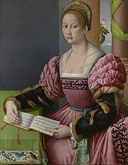 Bacchiacca - Portrait of a Woman with a Book of Music.jpg
