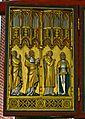 Bad Doberan, Münster, Kreuzaltarretabel, Marienseite, um 1368, li. Flügel 1. S.JPG
