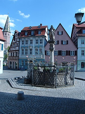 Bad Windsheim - Market square of Bad Windsheim
