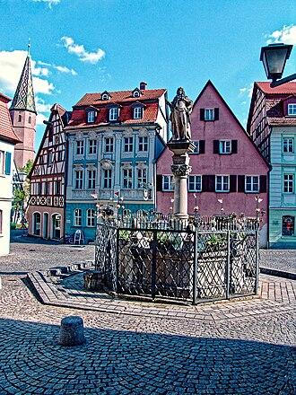 Bad Windsheim - Market square of Bad Windsheim