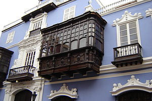 balconies at the Osambela House in Lima