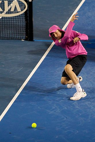 Glossary of tennis terms - Image: Ball kid 2010 Australian Open
