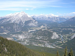 Banff from Sulphur mountain (313208769).jpg