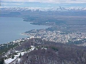 Bariloche vista de Piedras Blancas, uma estação de Trenó (Culiski)