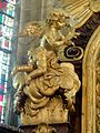 Baron (60), église Saint-Pierre-et-Saint-Paul, retable du maître-autel, ange.JPG