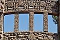 Bas-reliefs - Upper Blocks - West Face - East Gateway - Stupa 1 - Sanchi Hill 2013-02-21 4461.JPG