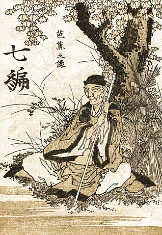 Matsuo Bashō - Portrait of Basho by Hokusai, late 18th century
