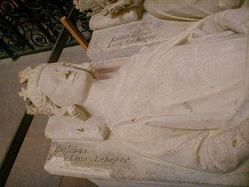 High tomb of Charles II in the cathedral of Saint-Denis near Paris