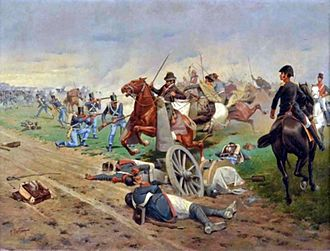 Battle of Tucumán - Battle of Tucumán, oil on canvas by Francisco Fortuny