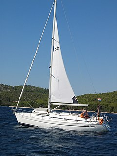 Reefing Reducing the area of a sail