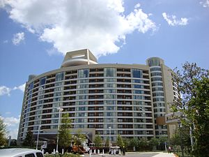 Disney's Contemporary Resort - Exterior of Bay Lake Tower.