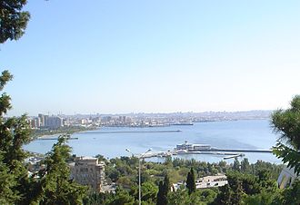 Bay of Baku -  Part of the bay. A view from funicular.