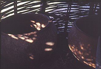 Bedick people - Image: Bedik ceramic pots in storage area, Southeast Sénégal (West Africa) (4232333462)
