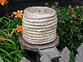 Bee Skep and stand, Skansen, Sweden.jpg