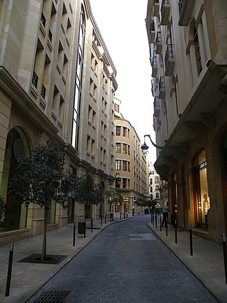 Architectural conservation - A preserved historical alleyway in Beirut Central District