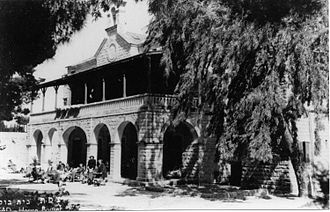 Church's Ministry Among Jewish People - Beit Bussel. Safed. Built by the London Society in 1904 as a Mission Hospital, later purchased by the JNF and used as Yiftach Brigade headquarters during the 1948 war.