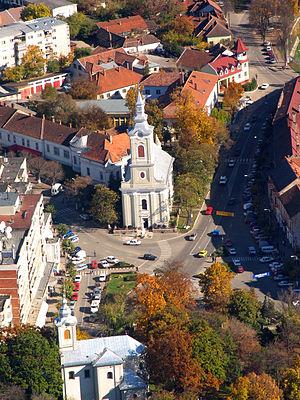 Beiuș - Aerial view