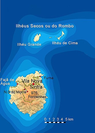 Brava, Cape Verde - Image: Bela vista net Brava map