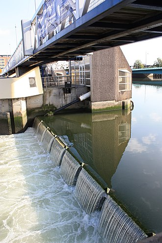 River Lagan - Lagan Weir, Belfast, October 2009