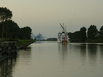 Lissewege - Image: Belgica (leaving for Zeebrugge)