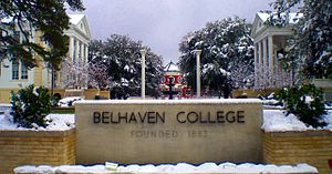 Belhaven University - Belhaven University Stone Sign.