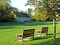 Benches on the green, Martinstown - geograph.org.uk - 1366390.jpg