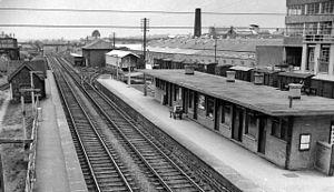 Bentham railway station - Bentham railway station in 1962