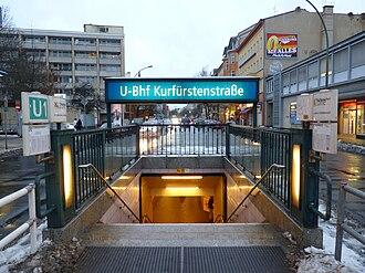 Kurfürstenstraße (Berlin U-Bahn) - Image: Berlin U Bahn U1 Kurfürstenstraße entrance