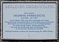 Berliner Gedenktafel Feurigstr 43 (Schön) Hedwig Porschütz.jpg