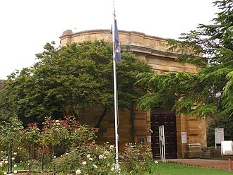 Berrima Correctional Centre - Sandstone façade of the old Berrima gaol, constructed between 1863 and 1868 under the supervision of Mortimer Lewis