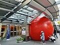 Big red ball stuck in Roppongi Hills.jpg