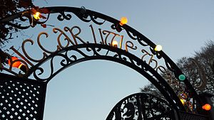 Biggar, South Lanarkshire - The sign of Biggar's puppet theatre, the 'Biggar Little Theatre'