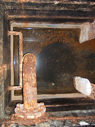 Bilge - Bilge compartment in a steel hulled ship (looking down)