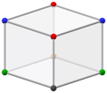 Bilinski dodecahedral tesseract shadow, ortho obtuse.png
