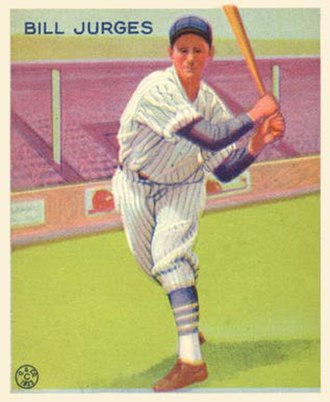 Billy Jurges - Jurges with the Chicago Cubs in 1932