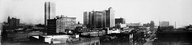 Panorama de Birmingham, 1916