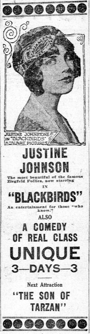 Blackbirds (1920 film) - Newspaper advertisement.