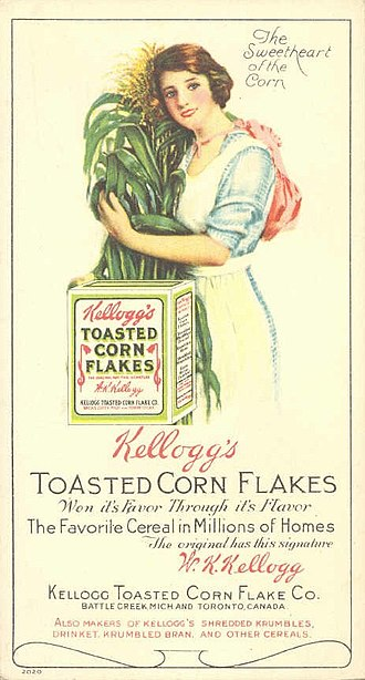 Breakfast cereal - 1910 Kellogg's Corn Flakes advertisement