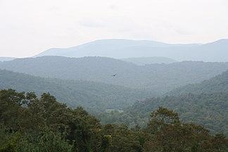 Blick in die Blauen Berge am Blue Ridge Parkway
