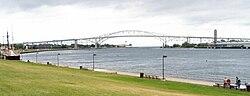 Blue Water Bridge (Port Huron Mich) Panorama