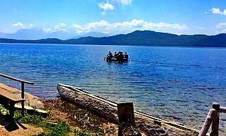 Rara Lake - Image: Boating at Rara