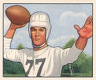 Bobby Gage - Gage on a 1950 Bowman football card