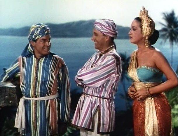 Bob Hope, Bing Crosby and Dorothy Lamour in Road to Bali