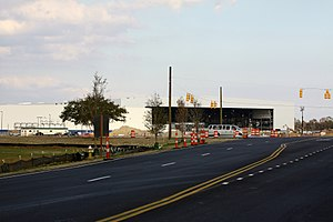 Boeing South Carolina - Boeing's East Coast assembly facility, under construction in North Charleston, South Carolina. Viewed from Michaux Parkway at International Boulevard